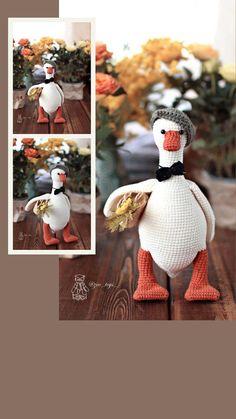 Crochet Birds, Cute Crochet, Crochet Toys, Zoo Toys, Handmade Toys, Winter Hats, Crochet Patterns, Dolls, Amigurumi