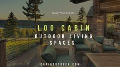 Are you searching for cozy log cabin outdoor living spaces? Check out our gallery of inspiration. Share & Pin your favorites! #outdoorliving #summertime #loghomeliving Log Cabin Exterior, Log Cabin Homes, Cabin Decorating, Decorating Ideas, Outdoor Fire, Outdoor Living, Log Home Builders, Small Sitting Areas, Log Home Living