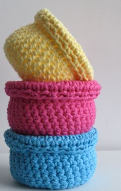 crochet basket bowl