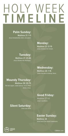 Scripture Reading, Scripture Study, Bible Verses, Holy Week Timeline, Jesus Cleanses The Temple, Holy Week Activities, Holy Thursday, Bible Study Journal, Palm Sunday
