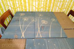 How To Use a Stencil With Stain