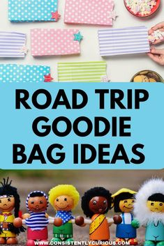 Beat Road Trip Boredom by putting together road trip goodie bags! Great ideas for toddlers, kids and adults.   #roadtrip #goodiebags #roadtripgoodiebags #roadtripwithkids #familyvacation Toddler Travel, Travel With Kids, Family Travel, Family Adventure, Adventure Travel, Family World, Road Trip With Kids, Diy Crafts Hacks, Goodie Bags
