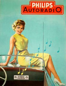 Philips Pin Up | Old commercial for car radio | #Philips #vintage #museum…
