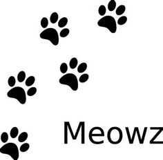 Cat paw print pattern. Use the printable outline for