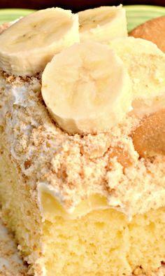 Banana Pudding Poke Cake...