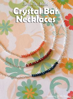 We'll show you how to make a wrapped loop in wire and string on crystals, then attach chain.