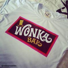 Wonka Bar, quem nunca quis?  A venda em nossa loja: www.danipresentes.com.br    #danipresentes #nostalgia #anos70 #anos80 #wonka #fantasticafabricadechocolate #80s