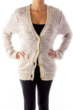 Like this Free People coat? Shop this without using money! Trade. Shop. Discover. #fashionexchange #prelovedfashion  Beige Knit Coat by Free People