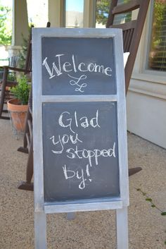 Lilacs and Longhorns: Make Your Own Chalkboard Easel
