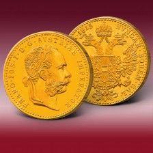 Goldmünze 1 Gold Dukat Österreich Franz Joseph I.