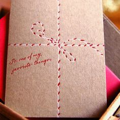 Brown paper cards..