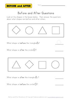 Before and After Worksheets - - Pinned by #PediaStaff.  Visit http://ht.ly/63sNt for all our pediatric therapy pins
