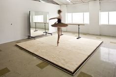 All I need is the floor and a few of thoes mirrors in my all white studio under the deck A portable dance room, perfect!