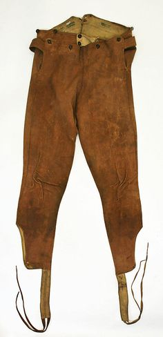 Trousers, 1800-1940, leather