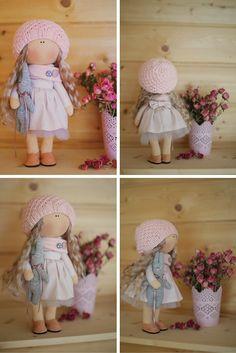 Rag doll tilda doll Art doll handmade blonde by AnnKirillartPlace