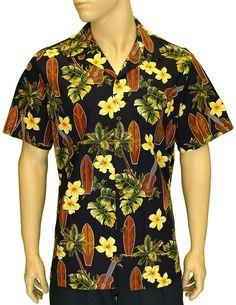Men's Surfing Tunes Print Cotton Hawaiian Shirt  #RJ-102C-5300