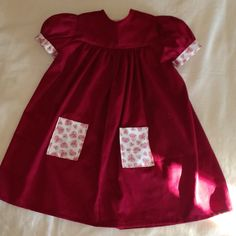 Toddler soft baby wale corduroy with Heart patterned details