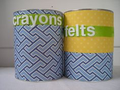 pretty containers made from formula tins