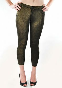 Metallic capri