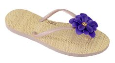 Modelo La Belle azul #flipflops #print #design #brazilian #stylish #summer #beach #flower