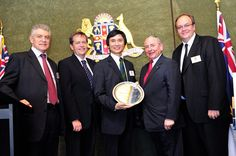 Li Cunxin, the author of Mao's Last Dancer. Australian Father of the Year Awards by The Shepherd Centre, at Parliament House NSW