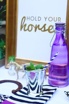 """Hold Your Horses"" sign. Love it. (Diff font + on Chalkboard, not framed). 
