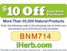 iHerb coupon code BNM714