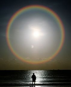 Sun dogs. They are brilliant, I feel lucky to have been in the presence of one last year.