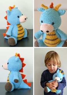 Spike the Dragon - pattern by littlemuggles  (Etsy)