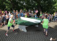 Pingpongtafel Rond Groen bij Grilloschule in Unna