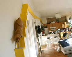 Oh, an Indoor Cat Highway (click for instructions). My kitties would love this.