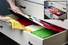 Tired of messy drawers? Cant find that favorite top? Check this before and after using Lift N Find Clothing trays! Small Tray, Large Tray, Drawer Dividers, Drawer Organisers, Shoe Organizer, Tool Organization, Organizers, Closet Shelves, Closet Storage