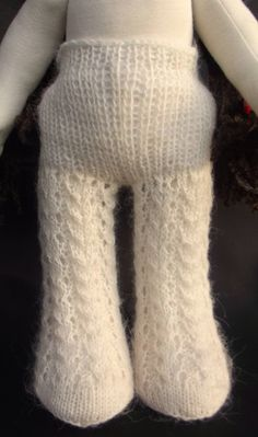 Knitted tights for Waldorf dolls