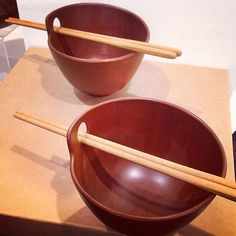 Fine turned Rosewood rice bowls with chopsticks https://www.australianwoodwork.com.au/products/fine-turned-rosewood-rice-bowls #ricebowls #wooden #chopsticks #australianmade