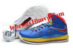 Nike Lebron 10 Blue/Yellow/Red