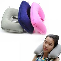 """Universe of goods - Buy """"U Shaped Travel Pillow Inflatable Neck Car Head Rest Air Cushion for Travel Office Nap Head Rest Air Cushion Neck Pillow"""" for only USD. Neck Support Pillow, Support Pillows, Neck Pillow Travel, Travel Pillows, U Shaped Pillow, Travel Store, Car Head, Dog Whistle, Comfortable Pillows"""