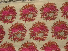 Cabbage Rose Print  Fabric   Floral Block Print / by theDelhiStore, $12.00