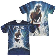 ACDC Lightning Adult All Over Print 100% Poly T-Shirt