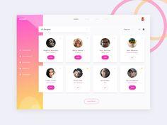 Elegant UI kit - Users Screen by George Vasyagin
