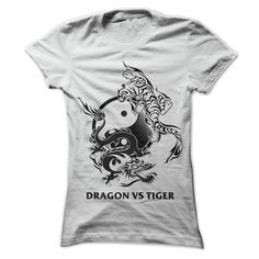 Dragon vs Tiger T-Shirts, Hoodies. ADD TO CART ==► https://www.sunfrog.com/Pets/Dragon-vs-Tiger-39661317-Guys.html?id=41382