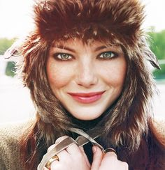 Fur hat ~ Emma Stone
