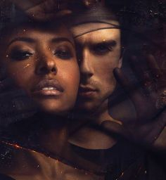 Bonnie and Damon caught behind the veil of the other side.