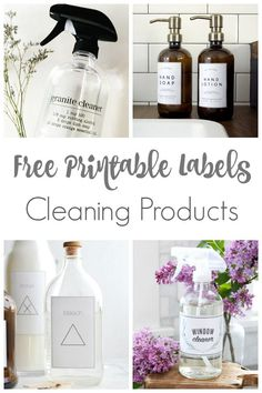Free Cleaning Labels for Your Home is part of Free printable cleaning – Diy labels – Diy cleaning - Creative DIY Project Ideas 2020