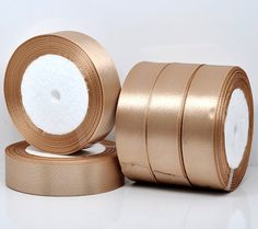 1 inch wide CAFE AU LAIT Satin Ribbon for Weddings by SmartParts, $5.99