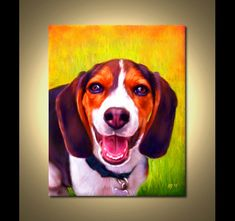 Beagle Portrait  Custom Beagle Portrait  Beagle by ScottieInspired, $49.99