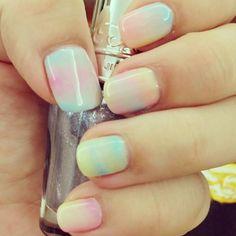 Cotton Candy Cloud Nails