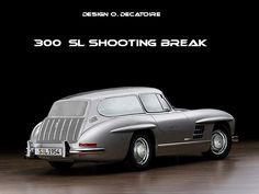 mercedes-gullwing- 300 SL shooting break, break de chasse
