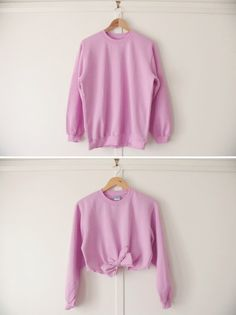 diy: tie-front cropped sweater | owl vs. dove