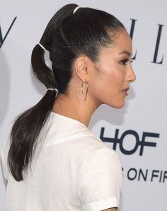 Constance Wu is never afraid of playing with her hairstyle and color — but it's never for an on-screen role. Constance Wu, Hairstyles For School, Ponytail Hairstyles, Spiky Hairstyles, Ponytail Ideas, Hairstyles 2016, New Hair, Your Hair, Black Women Short Hairstyles