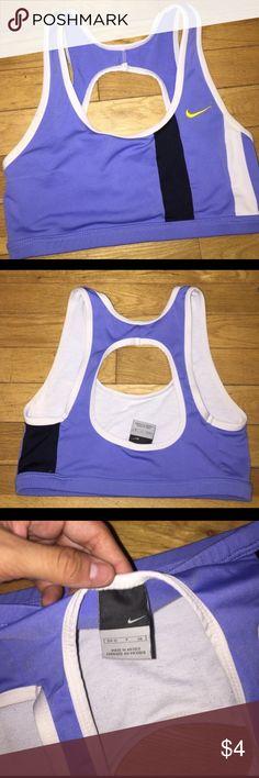 Nike sports bra Size small Nike sports bra, faded a bit but still gets the job done 😊 Nike Intimates & Sleepwear Bras